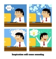 Inspiration will come vector image