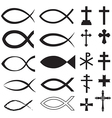fish and cross vector image