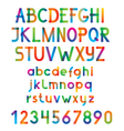 Colorful font and numbers vector image