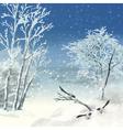 Winter atercolor Landscape vector image
