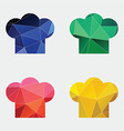 chef hat icon Abstract Triangle vector image