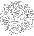 large bouquet of roses vector image vector image