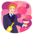 Cartoon Drunk man vector image