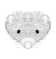 Hedgehog head coloring for adults vector image