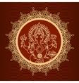 Lord Ganesha sunburst vector image