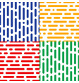 set of four seamless halftone patterns abstract vector image