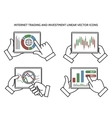 Stock exchange business hands vector image