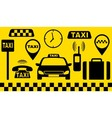 transport set of taxi objects vector image