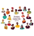 Young fashion people icons characters set isolate vector image