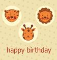 Jungle animals happy birthday vector image vector image