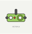 line flat color military icon - night-vision vector image