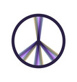 Peace sign colorful icon vector image
