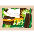 flying bird  nature protection vector image vector image
