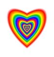 Big heart in rainbow colors vector image