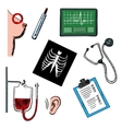 Diagnostics and medical test icons vector image