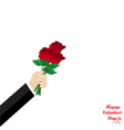 Give rose for valentine day vector image