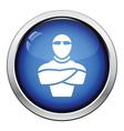 Night club security icon vector image
