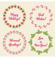 Christmas Whreaths vector image