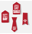 Sale Coupon voucher tag Happy Fathers Day vector image