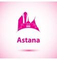 silhouette of Astana Kazakhstan vector image