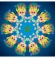 Skulls with bones and diamonds Cartoon Abstract vector image