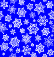 Texture with white snowflakes vector image