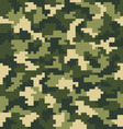 Seamless digital fashion camouflage vector image