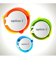 Abstract web design bubble vector image