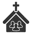 Church Icon Rubber Stamp vector image