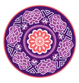 Round purple lace vector image