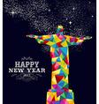 New year 2015 Brazil poster design vector image