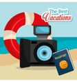 Summer vacation graphic vector image