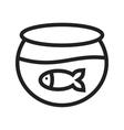 Fish in Tank vector image