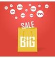 big sale promotion discount background vector image