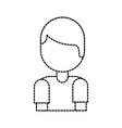cartoon boy portrait male character social media vector image