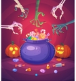 Halloween poster background card vector image