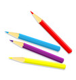 isolated of color pencil - vector image