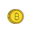 line stroke bitcoin and cryptocurrency icon vector image