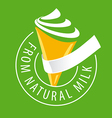 logo ice cream made of natural milk vector image