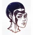 robot or cyborg girl portrait vector image