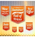 Set of sale business banners for the late summer vector image