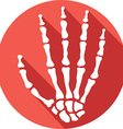 Skeleton Hand Icon vector image