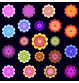 Templates of bright colored stylized flowers vector image
