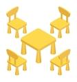 Isometric Children play room Interior furniture - vector image