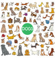 cartoon dog characters large collection vector image vector image
