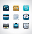 credit card square icon set vector image