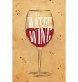 Poster drink wine kraft vector image
