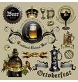 Beer design elements RGB vector image