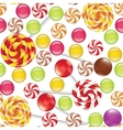 candies seamless background vector image