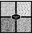 Circle and star seamless pattern set vector image